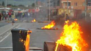 A violent protest erupted in the Langa area on Tuesday morning, with residents vowing to shut the area down until housing and service delivery issues are dealt with. Picture: Bhekizizwe Radebe
