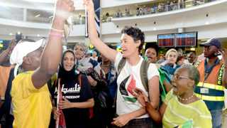 South African activist Leigh Ann Naidoo released after being detained by Israeli authorities in Gaza.