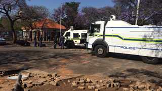 Clashes between students and police erupted at the University of Pretoria on  Monday morning.
