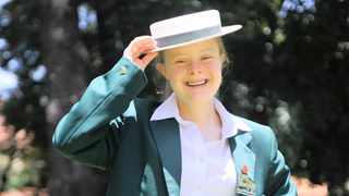 HATS OFF: Victoria Giuricich passed several subjects.