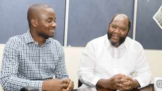 Kizito Okechukwu, left, the co-chairperson of GEN Africa, and former statistician-general Dr Pali Lehohla during their recent visit to Business Report's Johannesburg offices.Photo: Simphiwe Mbokazi/African News Agency/ANA
