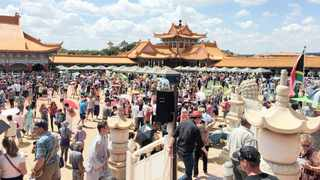 Thousands of people attend the Chinese New Year celebrations at the Nan Hua Temple in Bronkhorstspruit. Picture: Sakhile Ndlazi