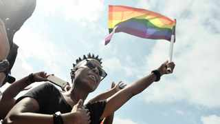 The LGBTQI+ community colours fly high during the Human Rights Day commemoration in Pretoria. Picture: File Photo