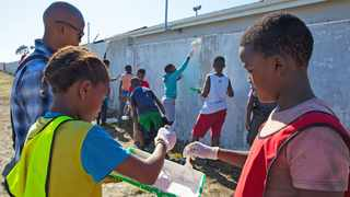 PEACE ZONE: The IPYG organised young people of Gugulethu and surrounds to help clean up a local park.
