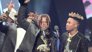 Distruction Boyz were declared winners of the public-voted record of the year for their hit, Omunye. Picture: Sama
