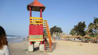 A typical colourful lifeguard tower.