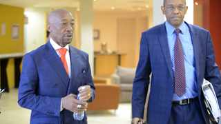 Advocate Dali Mpofu with his client, Tom Moyane, at the commission of inquiry in Pretoria. Picture: Thobile Mathonsi/African NewsAgency/ANA