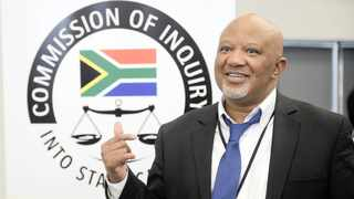 Ex-deputy minister Mcebisi Jonas at the commission of inquiry. Picture: Matthews Baloyi/African News Agency (ANA)