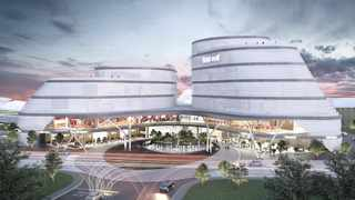 An artist's impression of  the new Mall of The West and the area in  Ntshongweni as it looks now. Development rights for the first precinct, the Urban Core, are already in place, with preliminary infrastructure upgrades expected to start early next year.