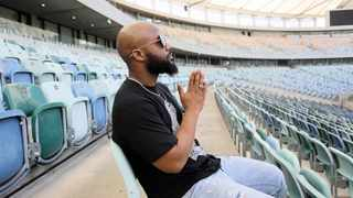 Cassper Nyovest at the Moses Mabhida Stadium where he will host the #FillUpMosesMabhida concert on December 1. Picture: Motshwari Mofokeng/African News Agency(ANA)