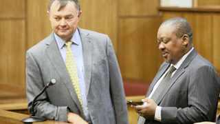 Trifecta Holdings chief executive Christo Scholtz (left) and former ANC Northern Cape chairperson John Block are expected to spend Christmas in jail after the Constitutional Court dismissed their leave to appeal their conviction and sentencing. They were convicted of corruption and money laundering. Photo: Danie van der Lith