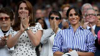 Britain's Duchess Kate and Duchess Meghan. Picture: Reuters