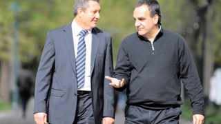CCID chairperson Rob Kane and CCID chief executive Tasso Evangelinos. Picture: Tracey Adams African News Agency (ANA)
