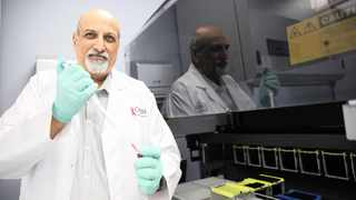 Professor Salim Abdool Karim at the Centre for the Aids Programme of Research in South Africa in Durban, which is testing a method to prevent HIV infection in young women.      Motshwari Mofokeng African News Agency (ANA)