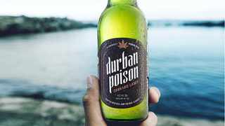 Consumers can now buy weed-flavoured products, such as Durban Poison Cannabis Lager, off the shelf at retail outlets.