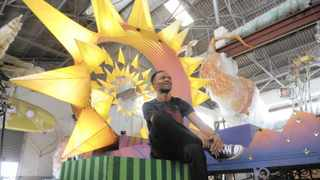 Franco Pasco and other crew put the finishing touches to props and floats that will feature in the 2019 Cape Town Carnival on March 16. The theme this year is Vuka Ukhanye: Arise and Shine!   Armand Hough African News Agency (ANA)