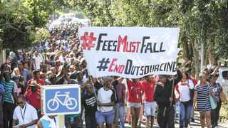 #FeesMustFall started as a legitimate movement, but this legitimacy was rapidly squandered by an ethically compromised leadership, a collapse into crude racial populism, increasingly authoritarian forms of organising and an infantile romanticising of violence. Photo: EPA
