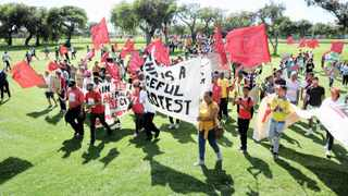 Hundreds of activists occupied the Rondebosch Golf Course, which they said was public land being leased to the rich for R1 000 a year, while it could be made available for affordable housing. Photo: David Ritchie African News Agency (ANA)