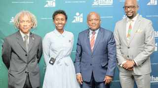 Nisaar Mahomed, Megan Ngiba, Economic Development, Tourism and Environmental Affairs MEC Sihle Zikalala and Alex Granger addressed business leaders on the impact of the fourth industrial revolution on small businesses, in Durban last week.     Supplied