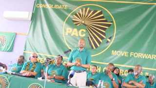 Narius Moloto addresses members of his party at a conference. File photo: Balise Mabona/African News Agency (ANA).