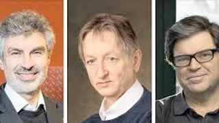 Yoshua Bengio, left, Geoffrey Hinton, centre, and Yann LeCun.     Washington Post