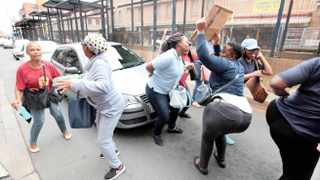 Contract workers demanded to be permanently employed by the Gauteng Department of Health. Picture: Nhlanhla Phillips African News Agency (ANA)