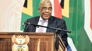 Health Minister Dr Aaron Motsoaledi during the signing ceremony of The Global Fund South Africa Grant 2019-2022 at Sefako Makgatho Presidential Guesthouse in Pretoria yesterday.     Siyabulela Duda