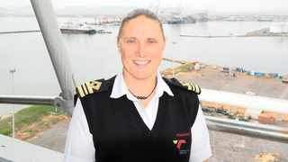 Sanette Robinson is the first female marine pilot to obtain an open licence at the Port of Cape Town. Photo: Supplied