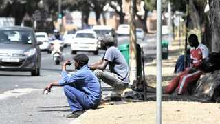 On a Joburg street, labourers wait in vain for short-term work opportunities.     Henk Kruger African News Agency (ANA)