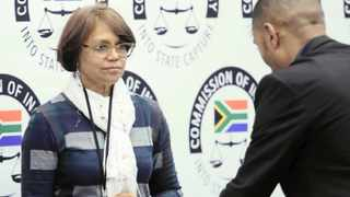 State Capture inquiry chairperson Judge Raymond Zondo hears evidence from the former head of Financial Risk Management of the SAA Soraya Stimpel in Parktown. Photo: Simphiwe Mbokazi African News Agency (ANA)