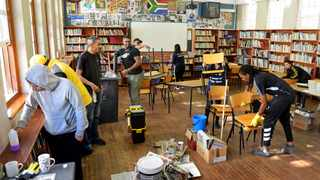 Livingstone High School gets a make-over in honour of Youth Day.     David Ritchie  African News Agency (ANA)