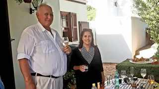 Wine farmer Stefan Smit and his wife Zurenah. Stefan was killed during an attack at his Stellenbosch wine estate, Louiesenhof. Picture: Supplied
