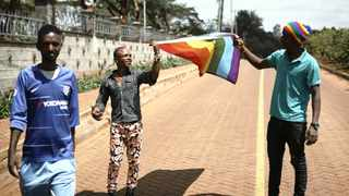 Refugees who identify as LGBTQI+ and their supporters protest against their treatment by authorities, outside an office of the UN refugee agency UNHCR in Nairobi, Kenya. File picture: Khalil Senosi/AP