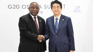 President Cyril Ramaphosa at the G20 Summit in Japan.