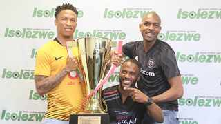 The Carling Black label Cup will make its return this year with the Kaizer Chiefs & Orlando Pirates on the 27th of July 2019 at FNB stadium. from left is Josta Dladla(Kaizer Chiefs), Khwezi Vika( Carling black label manager) & Phumudzo Manenzhe (Orlando Pirates). Picture: Nqobile Mbonambi/ Africa News Agency(ANA)