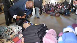 MAYOR Stevens Mokgalapa donated blankets and other items to children at Inkululeko Care Centre in Salvokop yesterday.     Thobile Mathonsi/African News Agency (ANA)