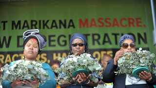 Families and colleagues gathered at the koppie to commemorate the seventh anniversary of the death of 34 miners during the strike in Marikana. File photo: Simphiwe Mbokazi/African News Agency(ANA).