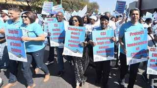 MEMBERS of the ACDP march to the Department of Basic Education to air their disapproval of the introduction of Comprehensive Sexuality Education to the school curriculum.     Thobile Mathonsi  African News Agency (ANA)