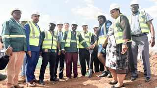 MAYOR Stevens Mokgalapa, MMC Sheila Lynn Senkubuge, representatives of Redefine Properties and other dignitaries at the sod-turning to mark the beginning of the construction of a new taxi rank in Centurion.     Oupa Mokoena African News Agency (ANA)