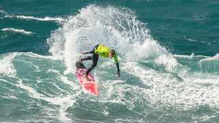 South African surfing legend Heather Clark (Port Shepstone) features in the semi-finals of the Open Women's division of the 2019 Mercedes-Benz South African Surfing Championships which will see national champions from nine divisions crowned at Nahoon Reef in East London this weekend. Photo: Pierre de Villiers