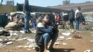 Many foreigners were left homeless after their shacks were burnt down by angry protesters in Marabastad, Pretoria. Picture: Oupa Mokoena/African News Agency (ANA)