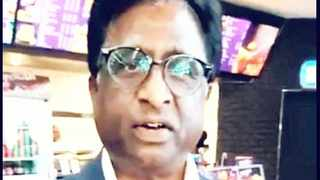 A screenshot of the video of Logie Naidoo which was posted on Facebook.