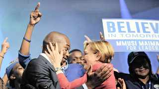 FLASHBACK to May 2015, when Mmusi Maimane was elected the first black leader of the DA in Port Elizabeth, succeeding Helen Zille. The former leader is now on the comeback trail, and has announced that she is running for the federal chairperson post, effectively its chief executive. File Picture: Dumisani Sibeko African News Agency (ANA)