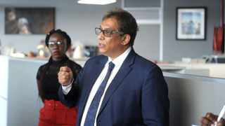 Dr Iqbal Survé during the raid in Cape Town on Wednesday. Picture: Ayanda Ndamane/African News Agency (ANA)