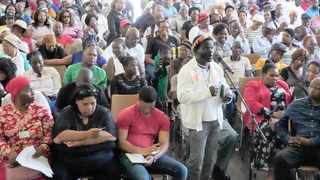 MEMBERS of the public air their views during public hearings on the proposed National Health Insurance (NHI) scheme in Glencoe, KwaZulu-Natal. Picture: GCIS