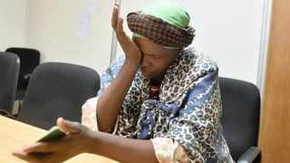 ANNA MAHLAKU weeps as she talks about her mentally ill son, who is terrorising informal settlement residents in Mamelodi.     Thobile Mathonsi  African News Agency (ANA)
