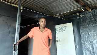 THABO Lebea in the shack where his brother, Percy Lebea, was electrocuted on Monday after flooding.     Oupa Mokoena African News Agency (ANA)