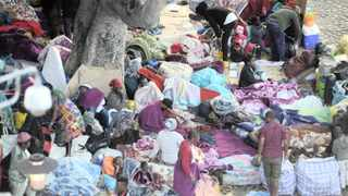 Foreign nationals slept at Greenmarket Square and in the adjacent Central Methodist Church, in the Cape Town CBD. Picture: Ayanda Ndamane/African News Agency (ANA)