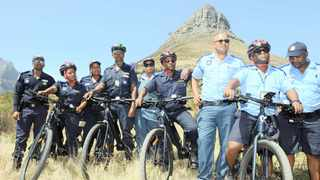 The newly established Tourism Law Enforcement officers will make use of electric bicycles to help with patrols and incident response.     Henk Kruger  African News Agency (ANA)
