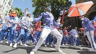 The Shoprite Pennsylvanians minstrels perform during the Cape Town Street Parade. Courtney Africa and Ayanda Ndamane  African News Agency (ANA)